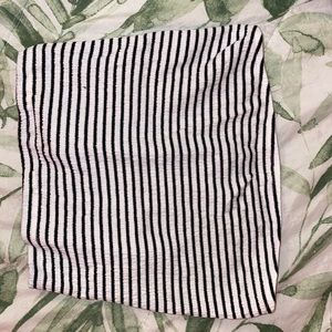Black and white striped tube top from A&E